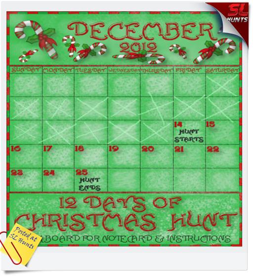 12 Days of Christmas Hunt 2012
