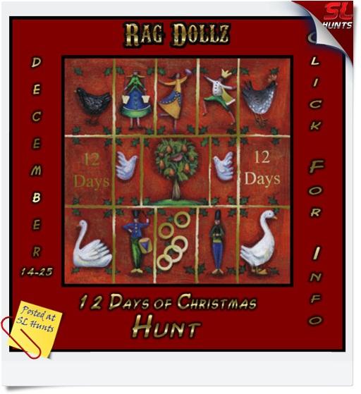 12 Days of Christmas Sign