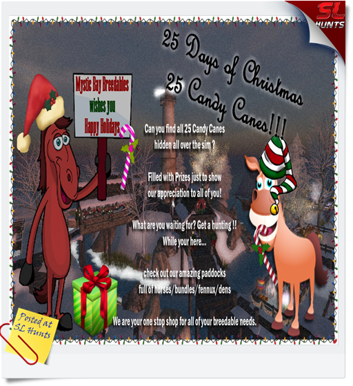 25 days of xmas - candy cane hunt - MysticBay
