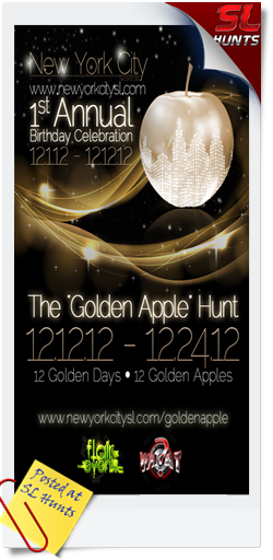 New-York-City-SL-Golden-Apple-1-Year-Anniversary-Hunt