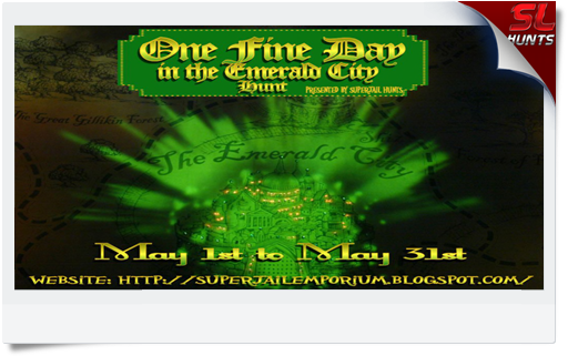 One Fine Day in the Emerald City Hunt sign
