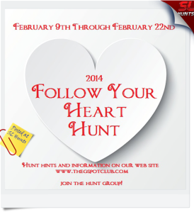 2014 FOLLOW YOUR HEART HUNT