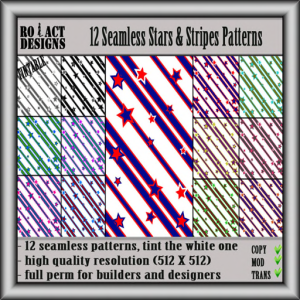 #26 Ro!Act Designs Seamless Stars & Stripes Patterns