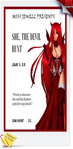 she the devil hunt logo - Cheryne Jewell