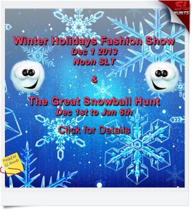 Winter Holidays Fashion Show & Snowball Hunt