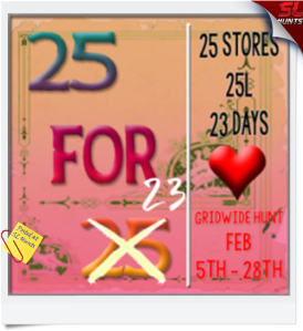 25-for-25-hunt-february-sign