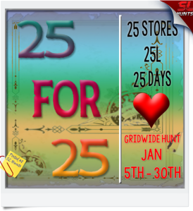 25-for-25-hunt-january-sign