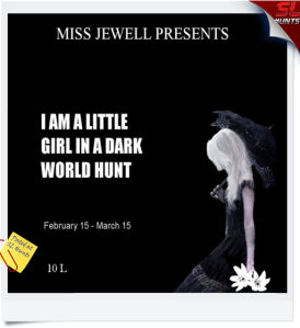 Little girl in a dark world hunt logo - Cheryne Jewell