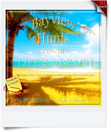 LIFE'S A BEACH HUNT POSTER