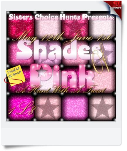 {SCH}Shades Of Pink Hunt Sign{Ezmerelda Optera}