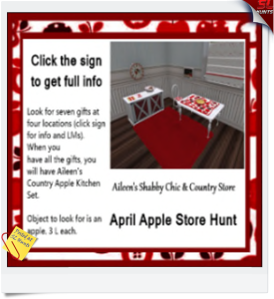 Aileen's April Apple Hunt
