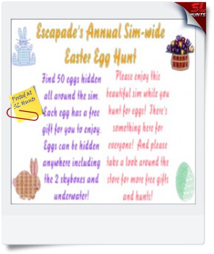 Escapades Annual Egg Hunt