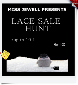 Lace Sale Hunt LOGO- Cheryne Jewell