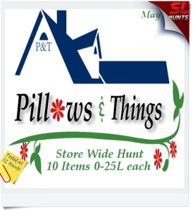 Pillows & Things Store Hunt- May