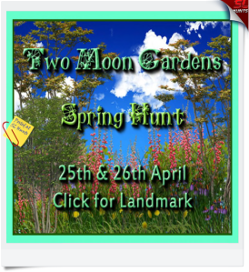 Two Moon Gardens - Spring Hunt Sign