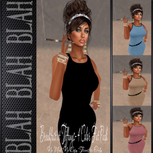 blah.BLAH.blah Breakfast at Tiffanys 4 Color Dress Pack