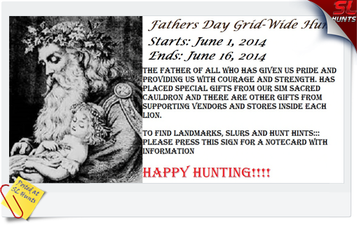 father and baby Fathers day hunt sign