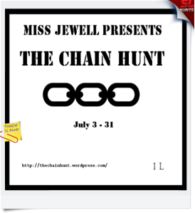 The chain hunt logo - Cheryne Jewell