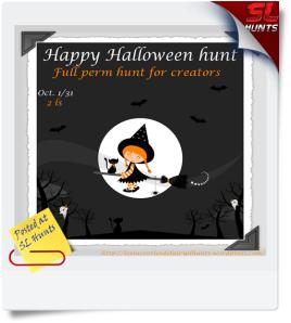 Happy Halloween hunt poster