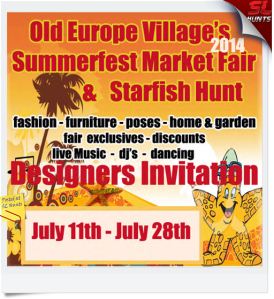 Summer Market Fair Starfish Hunt Invitation