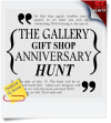 The Gallery Gift Shop Anniversary Hunt