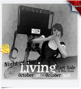 Night of the Living Cart Sale Texture for Blogging