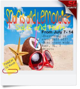 Sparks & Lemonade Sale & Hunt