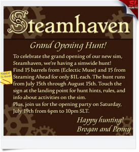 Steamhaven Hunt ad 512