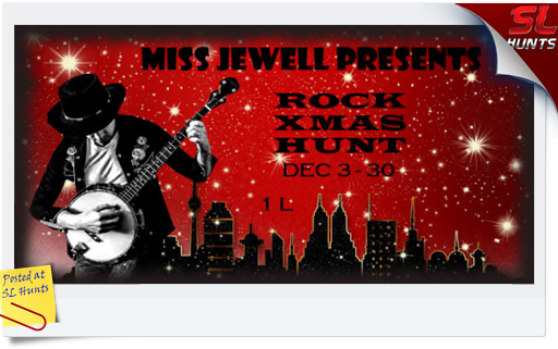 Rock Xmas Hunt logo - Cheryne Jewell