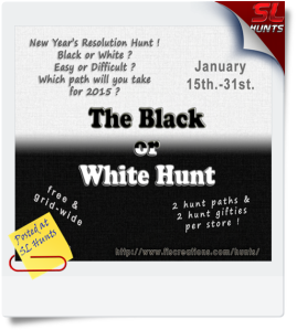 The Black or White Hunt - POSTER IMAGE