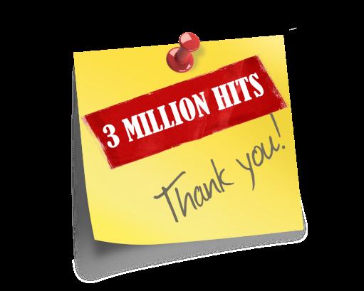 3 MILLION HITS