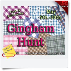 SLHunts-Fi's Hunts - Gingham Hunt - POSTER IMAGE
