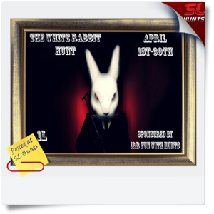 SLHunts-The White Rabbit Hunt Sign