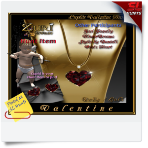 SLHunts-Jewels Isle Valentine Cupid Hunt Poster