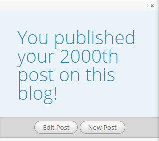 2000 posts milestone