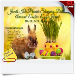 SLHunts-Jewels Isle Easter Egg Hunt Poster 2015
