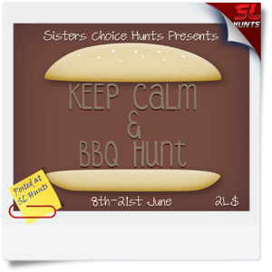 SLHunts-Hunt Posters Keep Calm & BBQ regular Path
