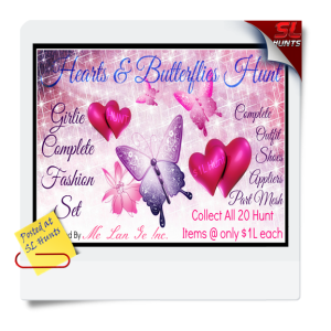 SLhuntsHearts & Butterflies Hunt Flyer