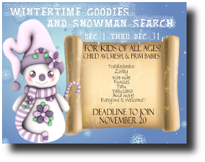 wintertime Goodies and Snowman Search 1201-1231