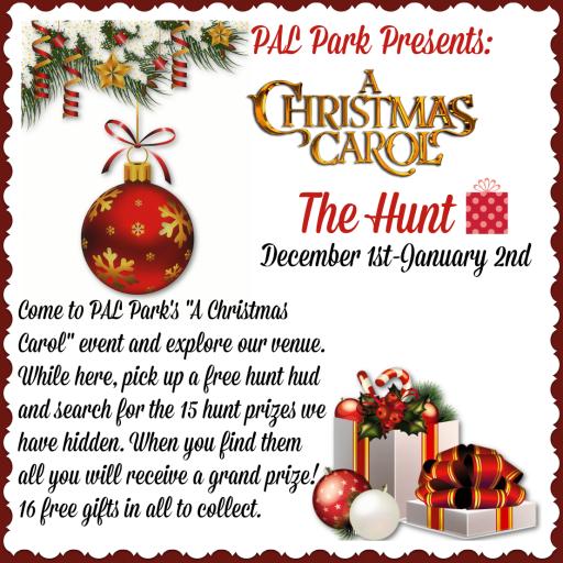 Christmas Carol Hunt Sign
