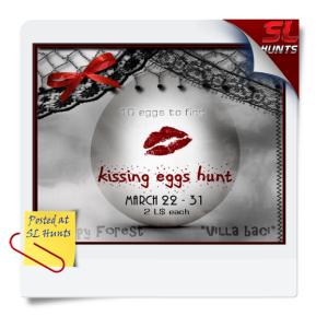 SLhuntskissing eggs hunt 2