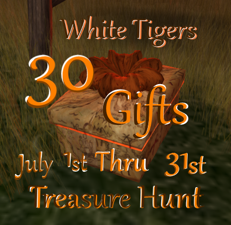 White Tigers Treasure Hunt 0701-0731