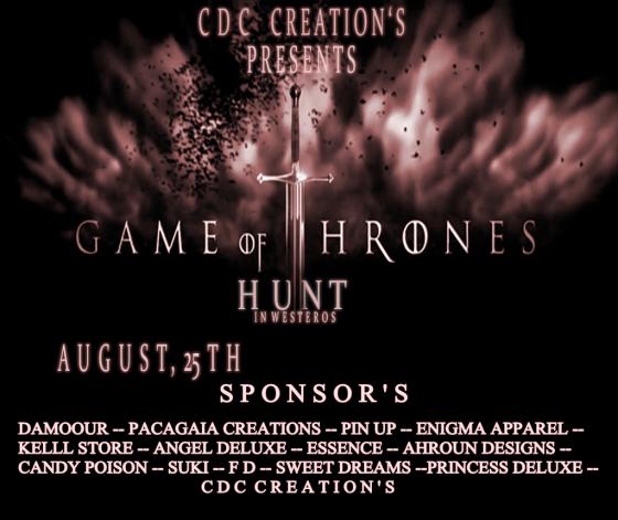Game Of Thrones Hunt In Westeros 0825-0907